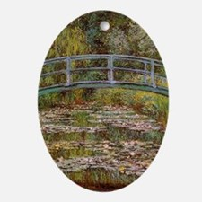 Water_Lilies Oval Ornament