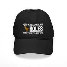 Asshole Opinions 2 Blk Hat Baseball Hat