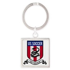 us soccer Square Keychain