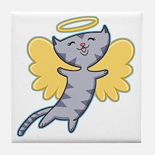 Cat Angel Tile Coaster