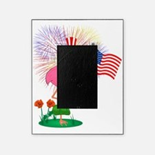 Funny 4th of July Flamingo Picture Frame