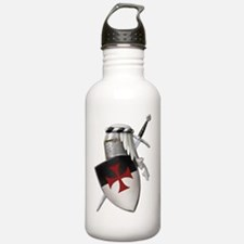 templar shield with cr Water Bottle