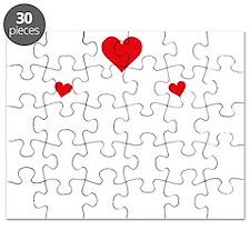 heart white Puzzle