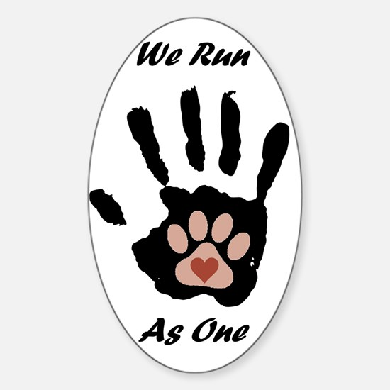 We run1 Sticker (Oval)