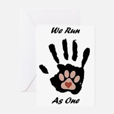 We run1 Greeting Card