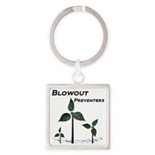 blowout preventers_edited-1 Square Keychain