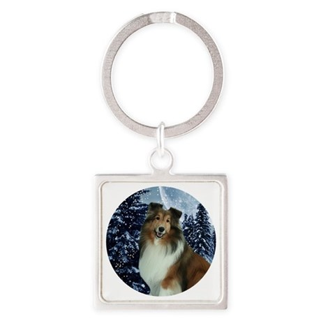 XmasGrace2010 Square Keychain