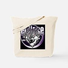 eclipse wolf indigo black large copy Tote Bag
