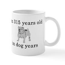 45 birthday dog years bulldog 2 Mugs
