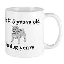 45 birthday dog years bulldog 2 Mugs