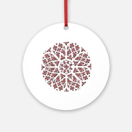 graphic rose2 Round Ornament