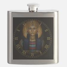 2-egyptian sarcophagus clock Flask