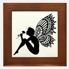 Fairy Smells Rose Framed Tile
