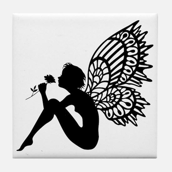 Fairy Smells Rose Tile Coaster
