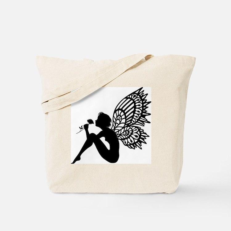 Fairy Smells Rose Tote Bag