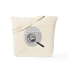 3-Moon Landing Blk Tote Bag