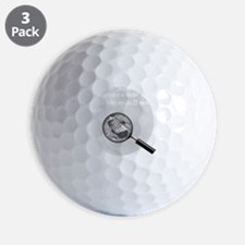 3-Moon Landing Blk Golf Ball