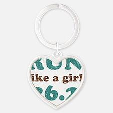runstickers15 Heart Keychain