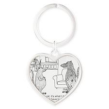 lab rat Heart Keychain