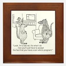 lab rat Framed Tile
