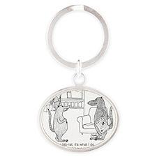 lab rat Oval Keychain