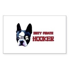 Dirty Pirate Hooker Rectangle Decal