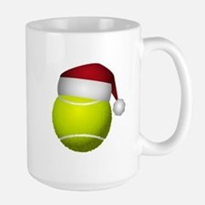 Christmas Tennis Ball with Santa Hat Mugs