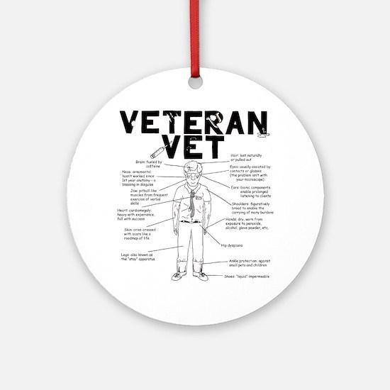 veteranvetmaleuse Round Ornament