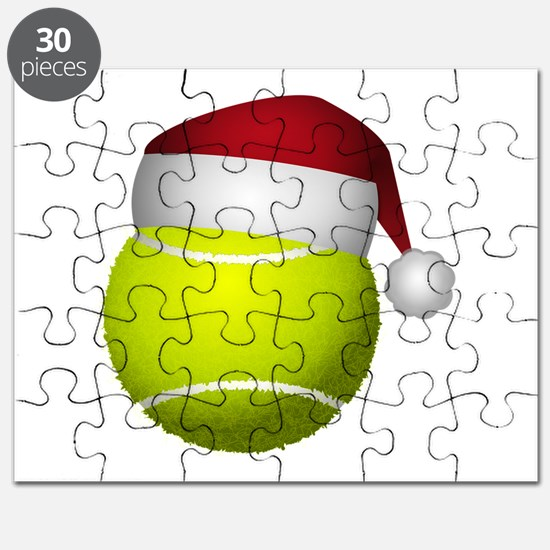 Christmas Tennis Ball with Santa Hat Puzzle