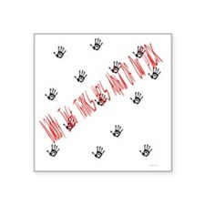 """alpha of the pack Square Sticker 3"""" x 3"""""""