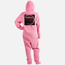 NewbornArmyBlackBack Footed Pajamas