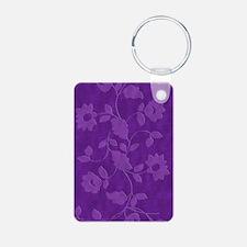 Purple Floral Journal Keychains