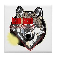 team jacob eclipse wolf copy Tile Coaster