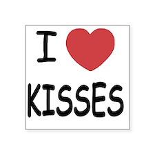 """2-KISSES01 Square Sticker 3"""" x 3"""""""