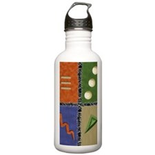 Earth colors 2 PCard Water Bottle