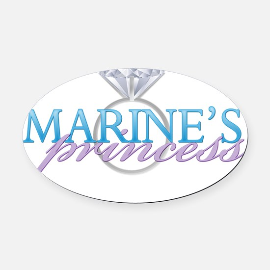 3-marinesprincess Oval Car Magnet