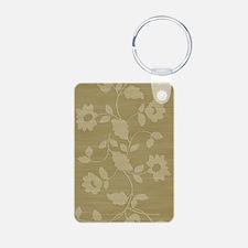 Beige floral journal Keychains