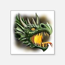 """roaring dragon Square Sticker 3"""" x 3"""""""