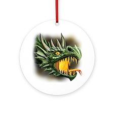 roaring dragon Round Ornament
