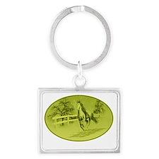 Horse-000001 Landscape Keychain