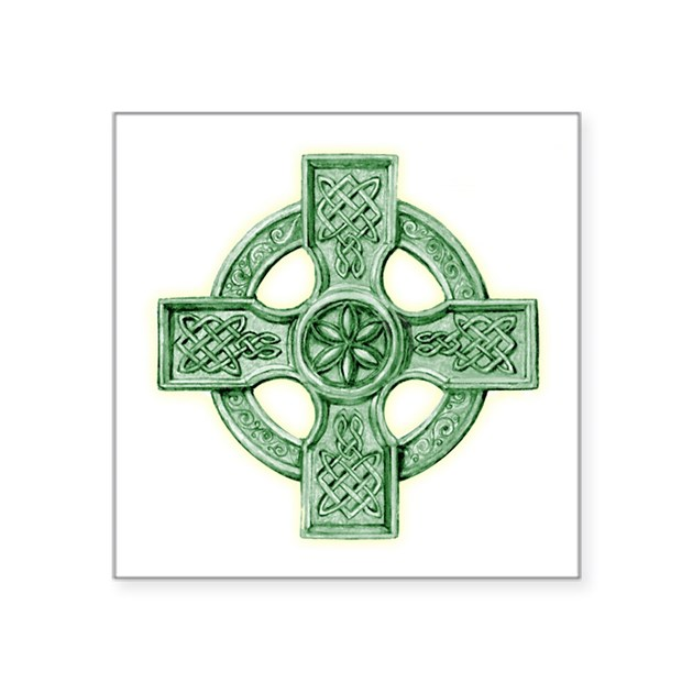 Celtic cross equal arms square sticker quot by admin