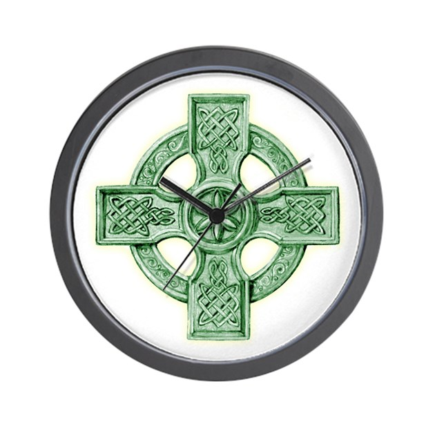 Celtic cross equal arms wall clock by admin cp