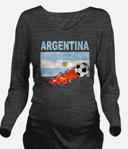 argentina Long Sleeve Maternity T-Shirt