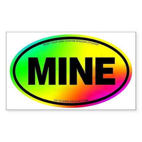 2-MINE Sticker (Rectangle)