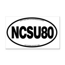 NCSU80 Rectangle Car Magnet