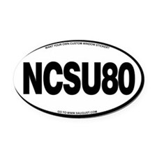NCSU80 Oval Car Magnet