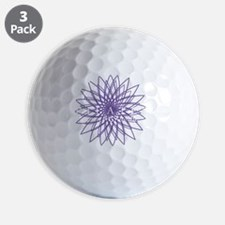 lilac_white_large Golf Ball