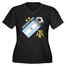 argentina aa Women's Plus Size Dark V-Neck T-Shirt
