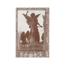 dramatic angel card Rectangle Magnet