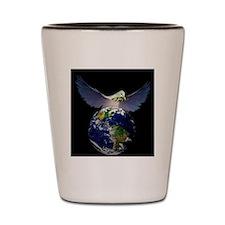 Paz al mundo Shot Glass